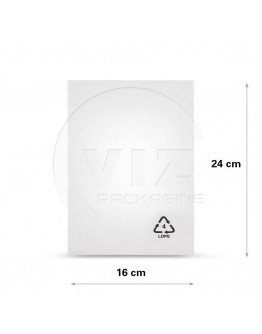 Flat poly bags LDPE, 16x24cm, 25my - 4000x