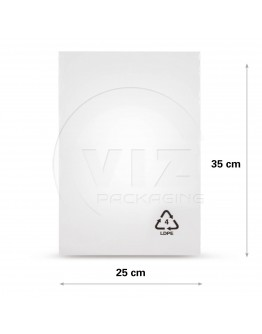 Flat poly bags LDPE, 25x35cm, 50my - 2000x