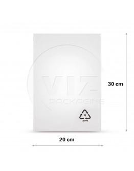 Flat poly bags LDPE, 20x30cm, 50my - 2000x