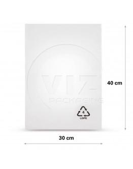 Flat poly bags LDPE, 30x40cm, 50my - 1000x