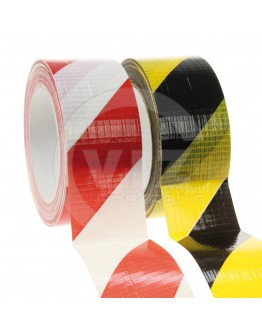 Floor marking tape DUCT red/white, 50mm/33m